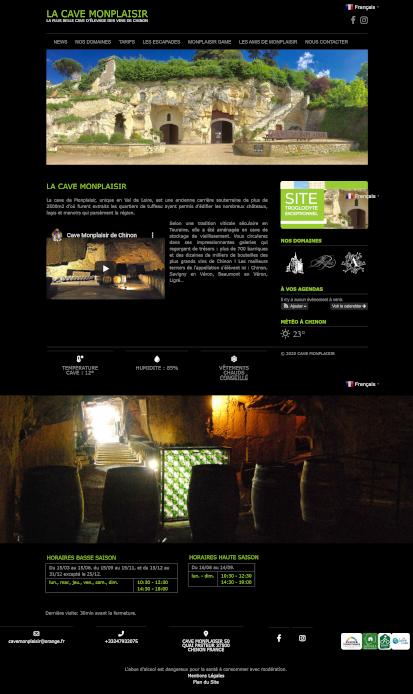 site internet créer de la cave monplaisir de chinon